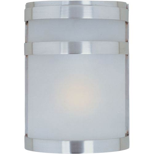 Arc LED Stainless Steel One-Light Outdoor Wall Sconce