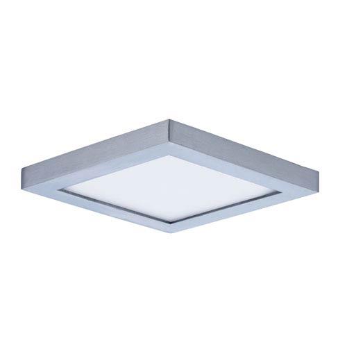 Maxim Lighting International Wafer LED Satin Nickel Five-Inch LED Square Flush Mount