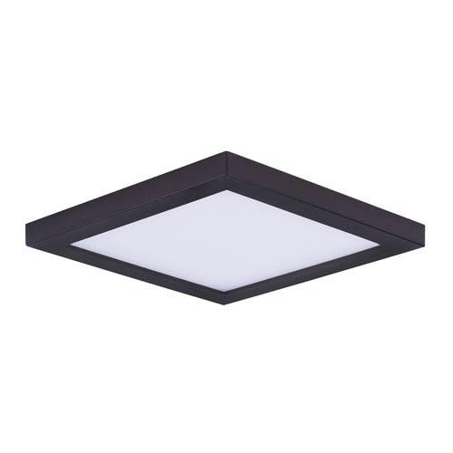 Square flush mount ceiling light bellacor maxim lighting international wafer led bronze seven inch led square flush mount aloadofball Gallery