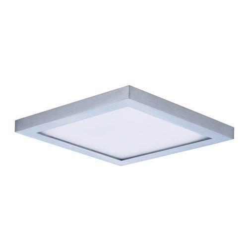 Maxim Lighting International Wafer LED Satin Nickel Seven-Inch LED Square Flush Mount