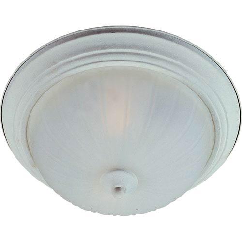 Maxim Lighting International Essentials Textured White One-Light Flush Mount