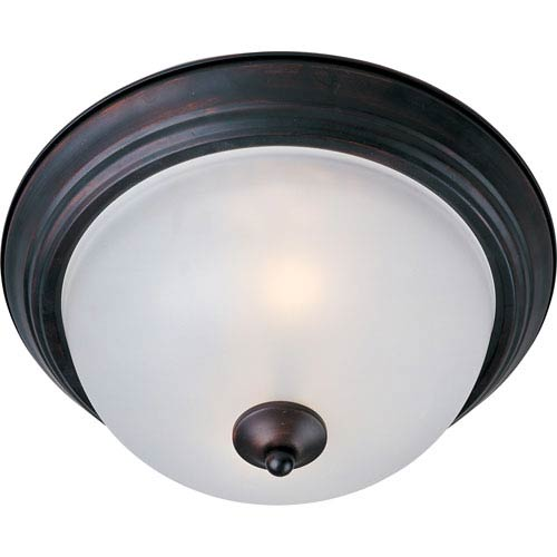 Maxim Lighting International Essentials Oil Rubbed Bronze One-Light Flush Mount