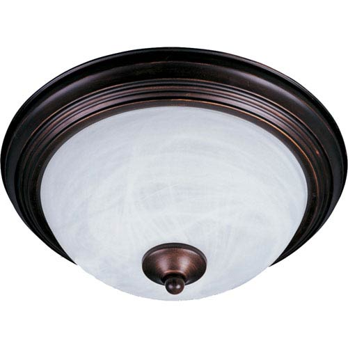 Essentials - 584x Oil Rubbed Bronze One-Light Flushmount