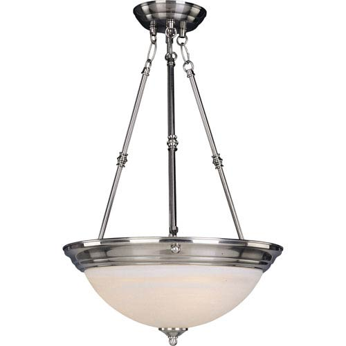 Maxim Lighting International Satin Nickel Bowl Pendant
