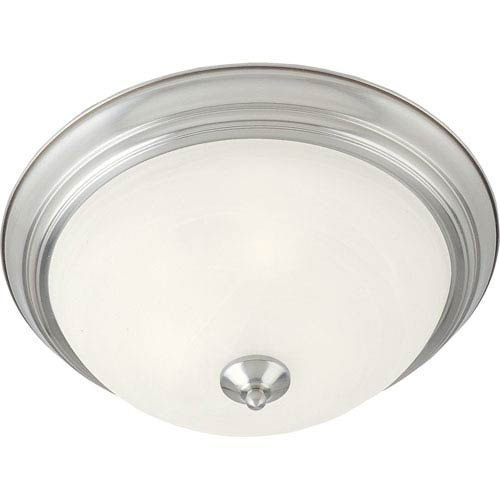 Maxim Lighting International Essentials Satin Nickel Two-Light Flush Mount
