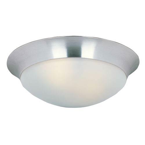 Maxim Lighting International Essentials - 5850 Satin Nickel Three-Light Flush Mount