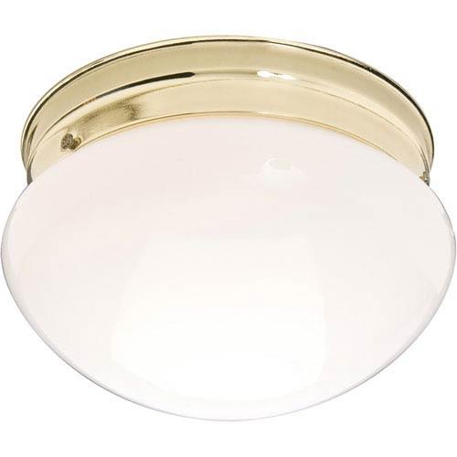 Essentials Polished Brass One-Light Flush Mount