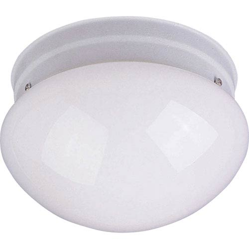 Maxim Lighting International Essentials White One-Light Flush Mount