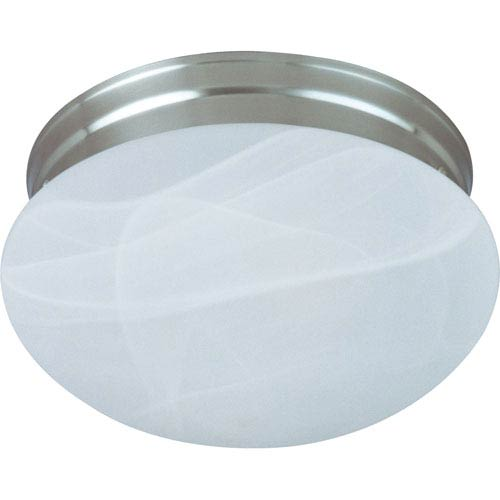 Maxim Lighting International Essentials Satin Nickel One-Light Flush Mount