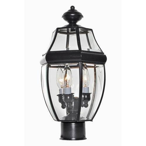 South Park Burnished Three-Light Outdoor Pole/Post Lantern