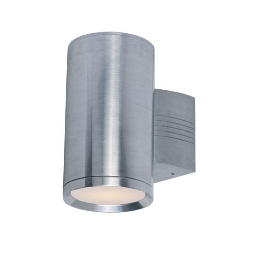 Maxim Lighting International Lightray Brushed Aluminum 9.5-Inch High One-Light Wall Sconce