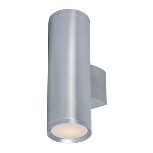 Maxim Lighting International Lightray Brushed Aluminum 15.5-Inch High Two-Light Wall Sconce