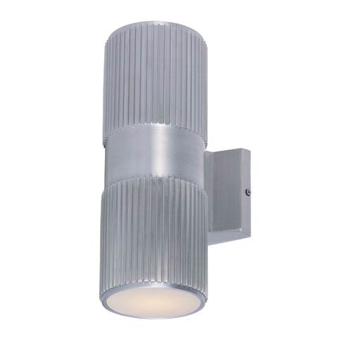 Lightray Brushed Aluminum Two-Light Wall Sconce