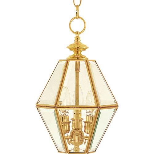 Polished Brass Lantern Pendant