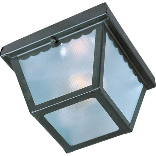 Outdoor Essentials - 620x Black One-Light Flushmount