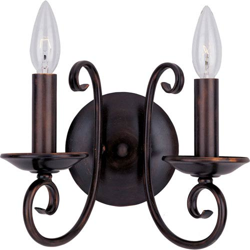 Maxim Lighting International Loft Oil Rubbed Bronze Two-Light Sconce