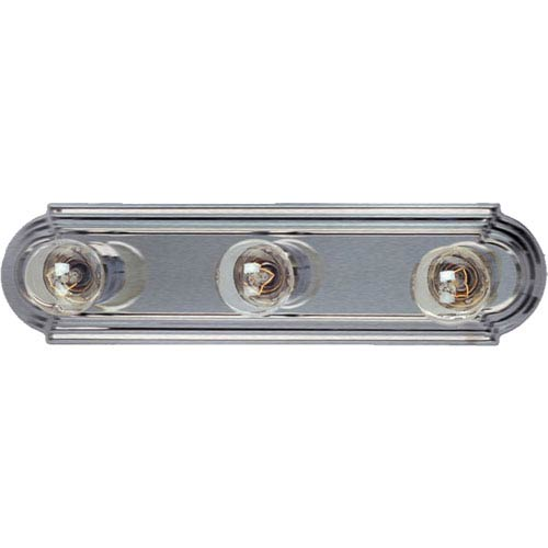 Maxim Lighting International Essentials Satin Nickel Three-Light Bath Vanity