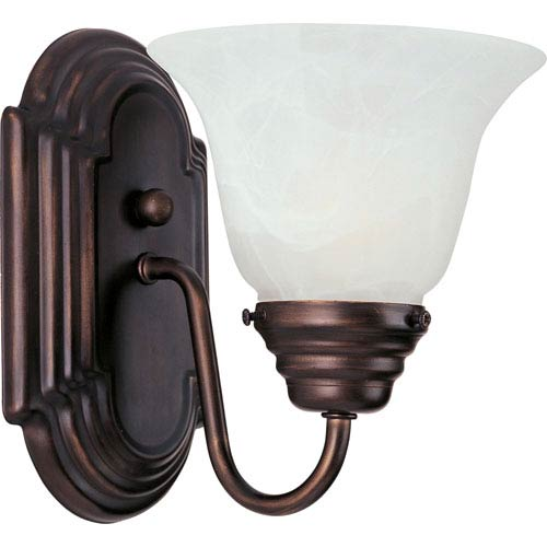 Essentials - 801x Oil Rubbed Bronze One-Light Bath Fixture with Marble Glass