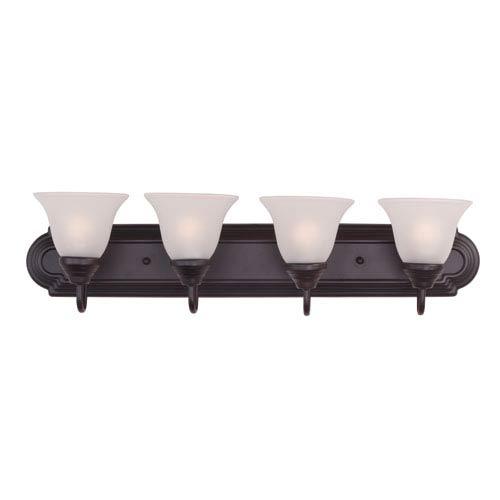 Essentials - 801x Oil Rubbed Bronze Four-Light Bath Vanity