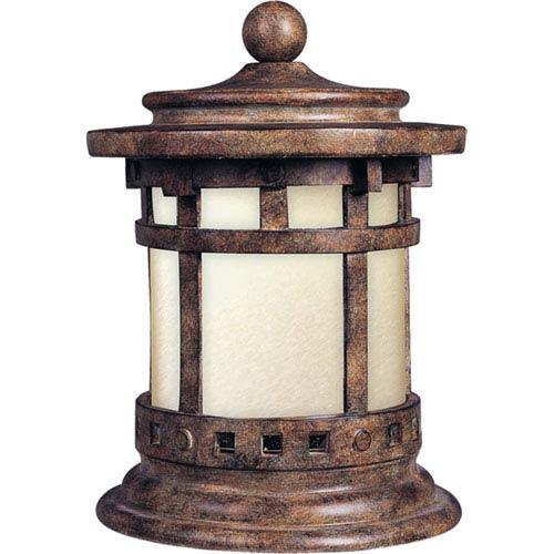 Maxim Lighting International Santa Barbara Sienna One-Light Outdoor Deck Lantern with Mocha Glass