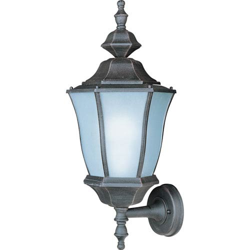 One-Light Large Rust Patina Outdoor Wall Mount
