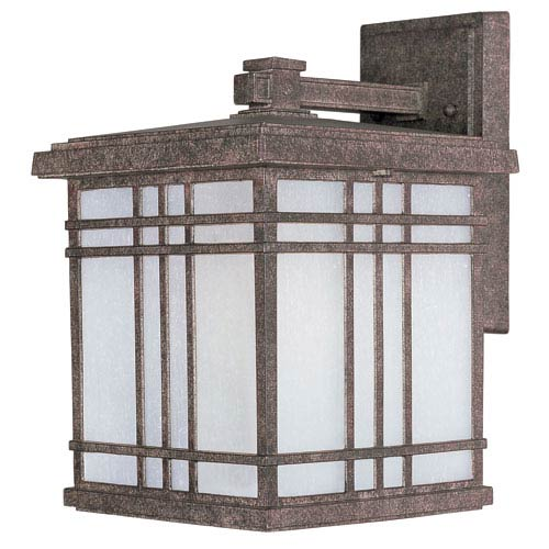 Sienna EE Earth Tone One-Light Fluorescent Nine-Inch Outdoor Wall Sconce