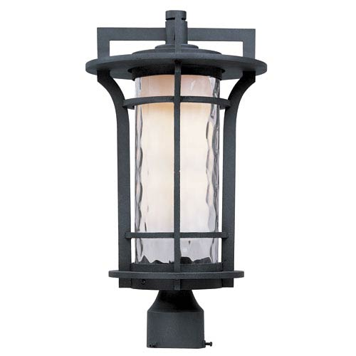Maxim Lighting International Oakville Black Oxide 17.5-Inch High One-Light Fluorescent Outdoor Post Mount