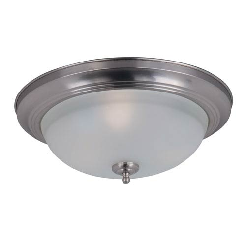 Maxim Lighting International Flush Mount EE Satin Nickel Title 24 Three Light Flush Mount with Frosted Glass