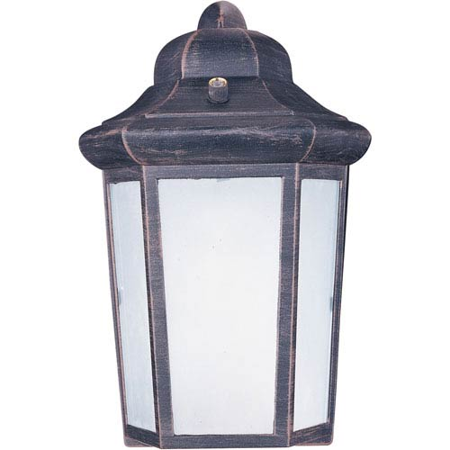 Side Door EE Rust Patina One-Light Seven-Inch Fluorescent Round Outdoor Wall Sconce