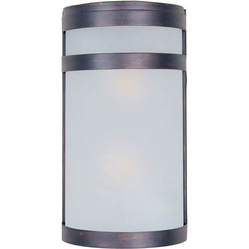 Arc EE Fluorescent Oil Rubbed Bronze Two-Light Outdoor Wall Mount