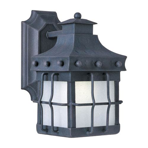 Maxim Lighting International Nantucket EE Country Forge 10.5-Inch Title 24 One Light Outdoor Wall Mount
