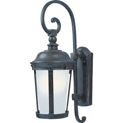 Dover Bronze One-Light Outdoor Wall Mount with Frosted Seedy Glass