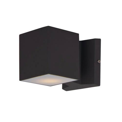 Maxim Lighting International Lightray Architectural Bronze 4-Inch High LED Square Wall Sconce