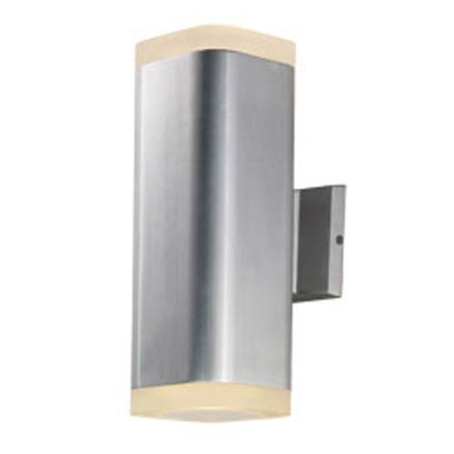 Maxim Lighting International Lightray Brushed Aluminum LED Two-Light 13-Inch Outdoor Wall Mount