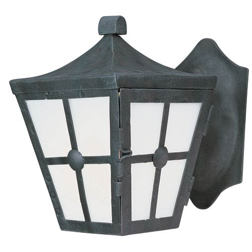 Maxim Lighting International Castille Country Forge 9.5-Inch High One-Light Fluorescent Outdoor Wall Mount
