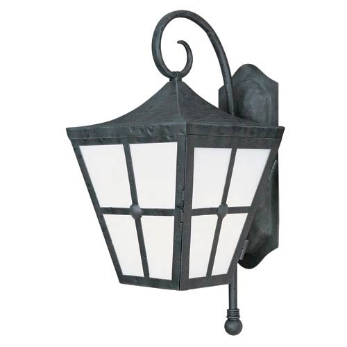 Maxim Lighting International Castille Country Forge 24-Inch High One-Light Fluorescent Outdoor Wall Mount