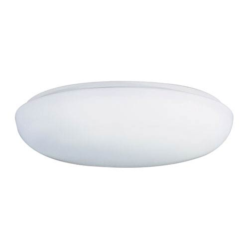White 14-Inch Flush Mount Ceiling Light
