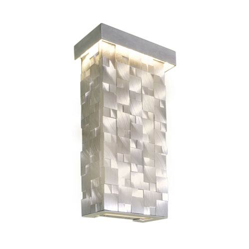 Mosaic Brushed Aluminum 7-Inch Wide LED Wall Sconce