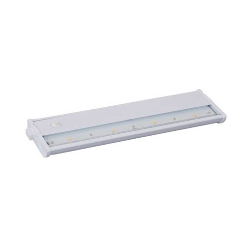 Maxim Lighting International CounterMax MX-L120DC White 13-Inch 3000K 4-LED Under Cabinet