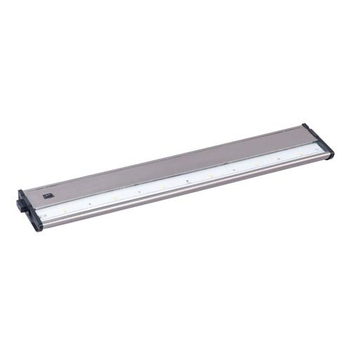 Maxim Lighting International CounterMax MX-L120DC Satin Nickel 21-Inch 3000K 6-LED Under Cabinet