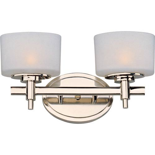 Maxim Lighting International Lola Polished Nickel Two-Light Bath Fixture