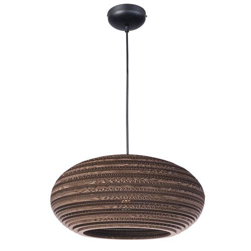 Java Black One-Light Nine-Inch Pendant