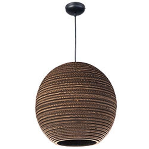 Java Black One-Light Seventeen-Inch Pendant