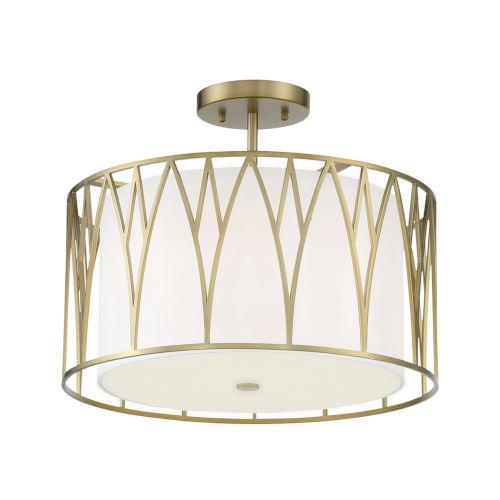Regal Terrace Soft Brass LED Semi-Flush