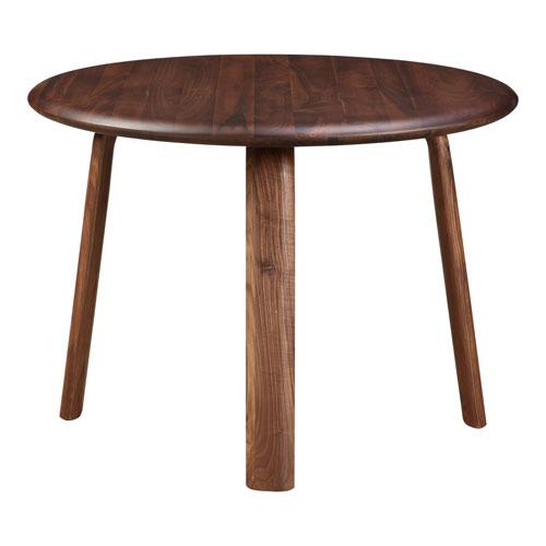Malibu Walnut 42-Inch Round Dining Table