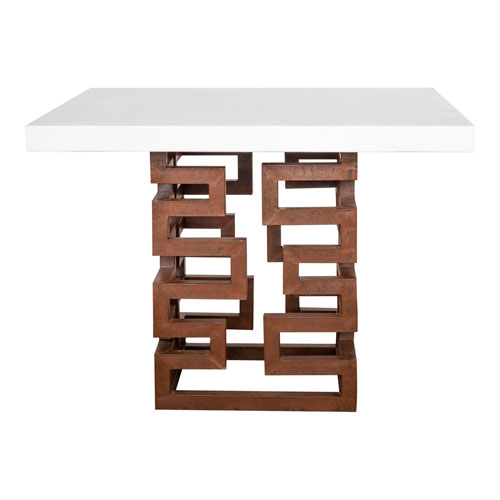 Ivey Brown and White 39-Inch Square Dining Table