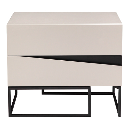 Albion White Two-Drawer Nightstand