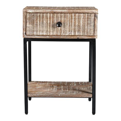 Cabral White Solid White Marble Top 26-Inch Accent Table