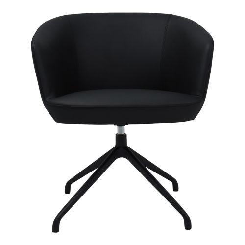 Gibson Black Swivel Arm Chair