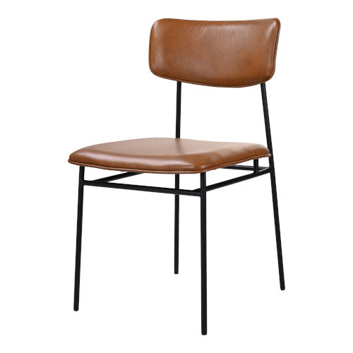 Sailor Brown and Black Dining Chair, Set of 2